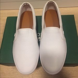d6b2ad56d Lacoste Shoes - NIB Lacoste White Slip-On Leather Sneaker